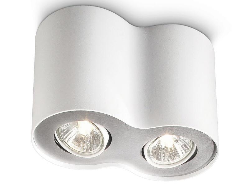 Philips myLiving Pillar spot de plafond GU10 max. 2x35W blanc