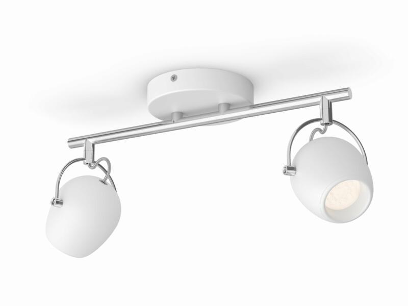 Philips myLiving Rivano LED barre de spots 2x4,3W blanc