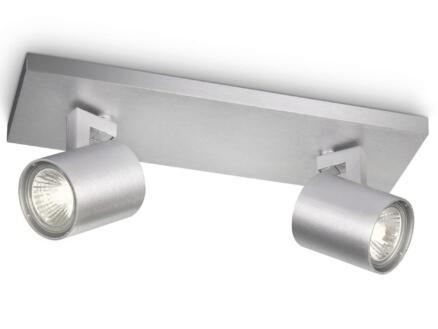 Philips myLiving Runner balkspot GU10 max. 2x50W dimbaar aluminium