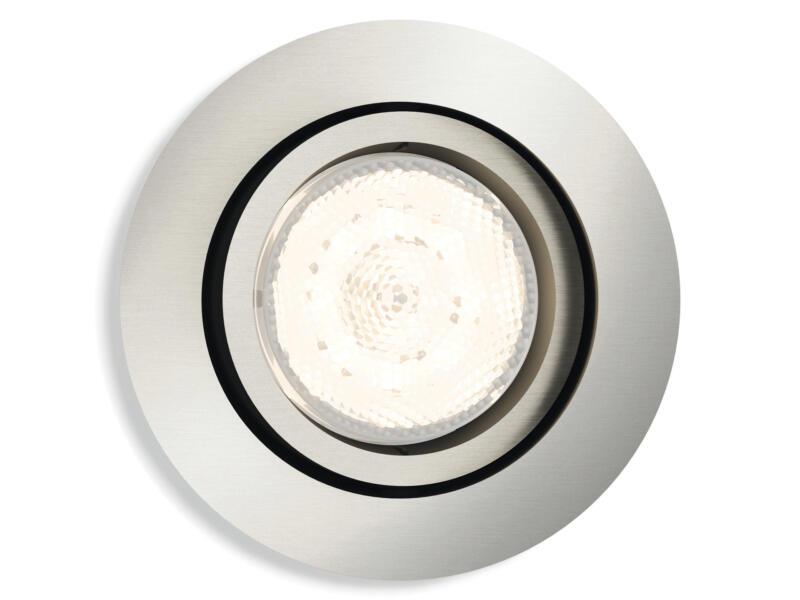Philips myLiving Shellbark LED inbouwspot rond 4,5W dimbaar mat chroom
