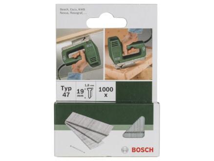 Bosch nagels type 47 19mm 1000 stuks