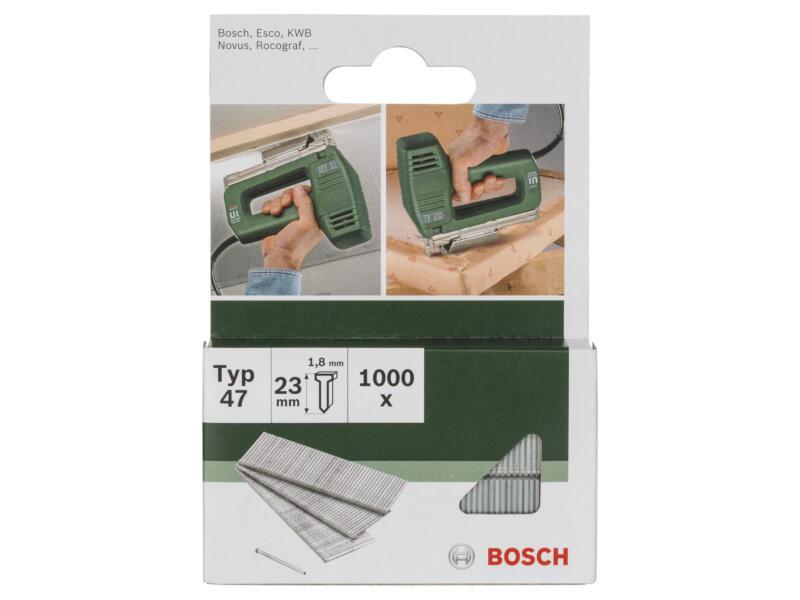 Bosch nagels type 47 23mm 1000 stuks