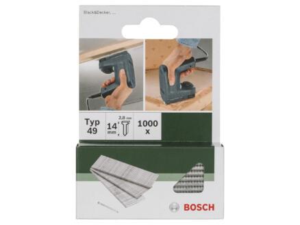 Bosch nagels type 49 14mm 1000 stuks