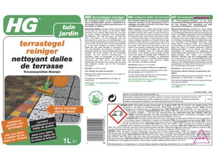 HG nettoyant dalles de terrasse 1l