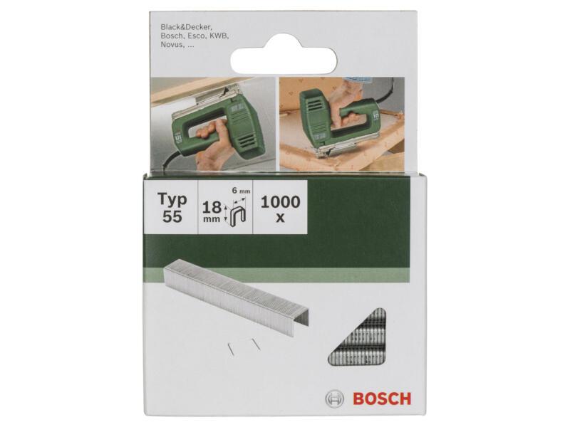 Bosch nieten type 55 18mm 1000 stuks