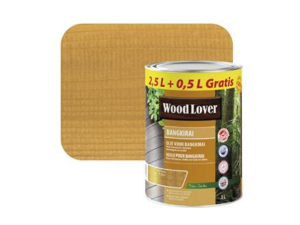 Wood Lover olie bangkirai 3l bruin #627