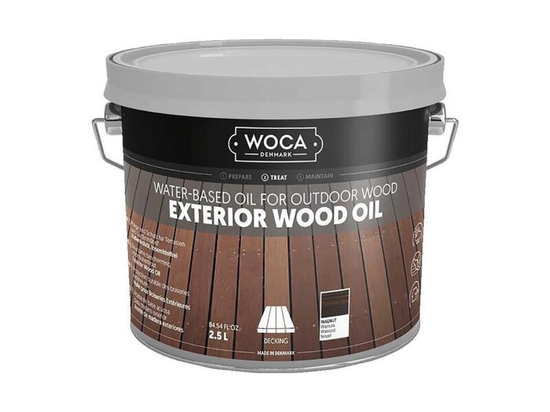 Woca olie buitenhout 2,5l walnoot