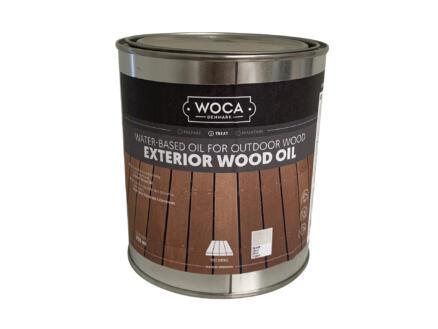 Woca olie buitenhout 750ml zilvergrijs