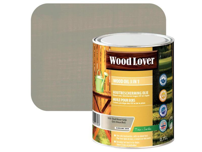 Wood Lover olie hout 0,75l oud hout grijs #950