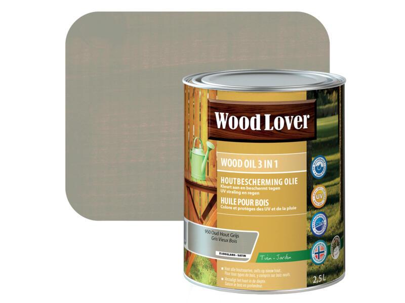 Wood Lover olie hout 2,5l oud hout grijs #950