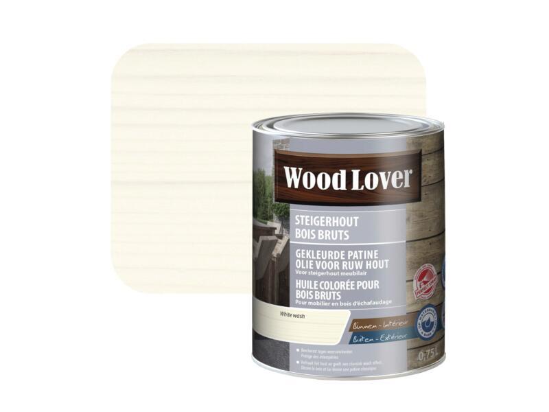 Wood Lover olie steigerhout 0,75l white wash