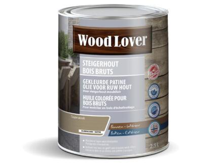 Wood Lover olie steigerhout 2,5l taupe wash