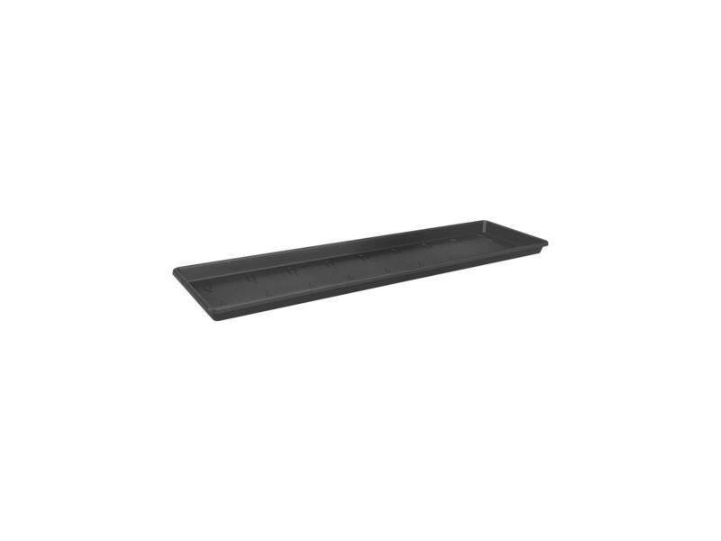 Elho onderschotel 40x15 cm zwart