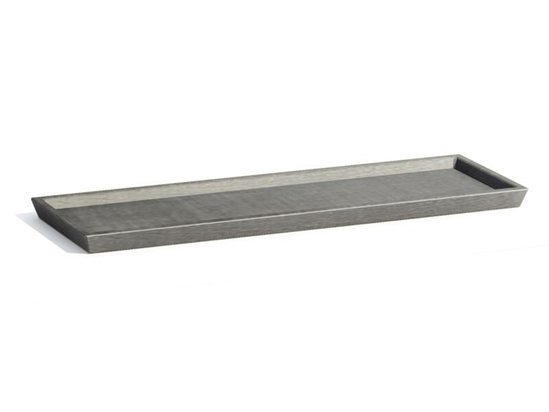Ecopots onderschotel 67x22 cm grijs