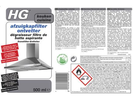 HG ontvetter afzuigkapfilter 500ml