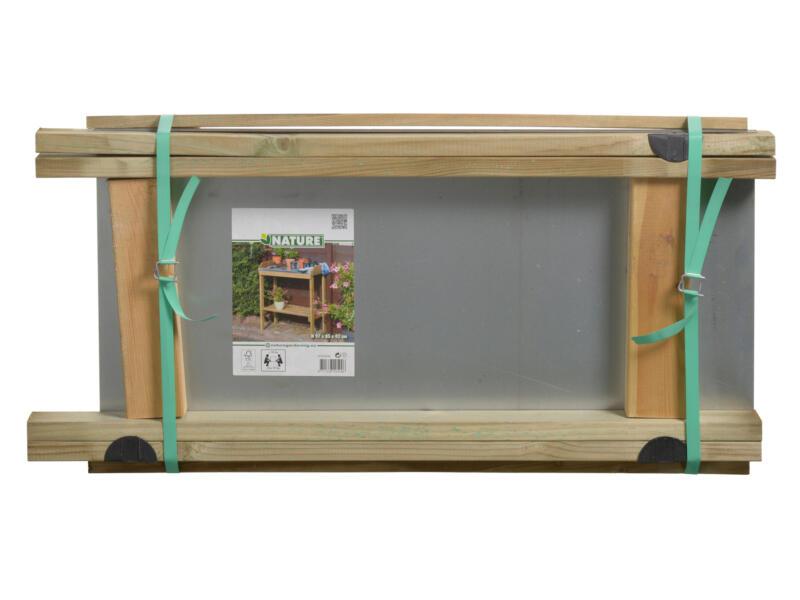Ubbink oppottafel met zinken blad 97x85x42 cm