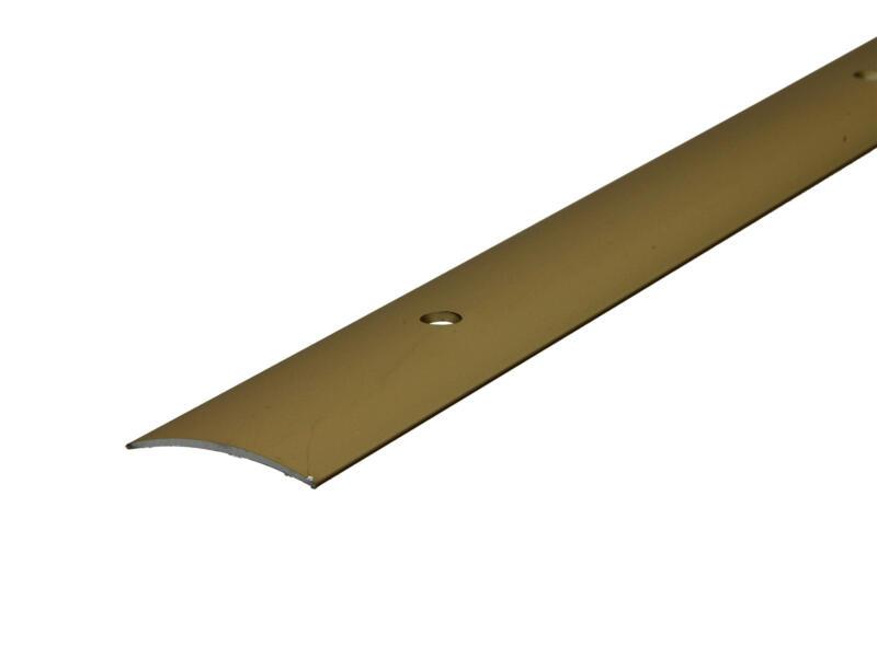 Arcansas overgangsprofiel zichtbare schroef 90cm 30mm aluminium goud