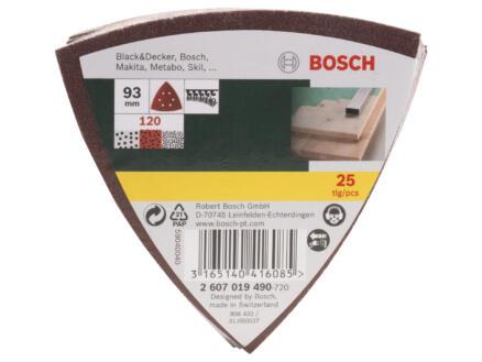 Bosch papier abrasif G120 93mm 25 pièces
