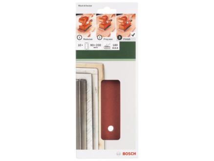 Bosch papier abrasif G180 230x93 mm 10 pièces