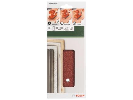 Bosch papier abrasif G40 230x93 mm 10 pièces