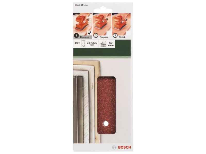 Bosch papier abrasif G60 230x93 mm 10 pièces
