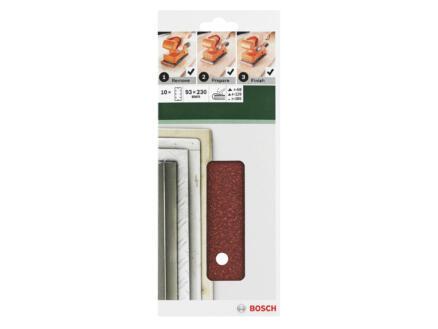 Bosch papier abrasif G60/G120/G180 230x93 mm
