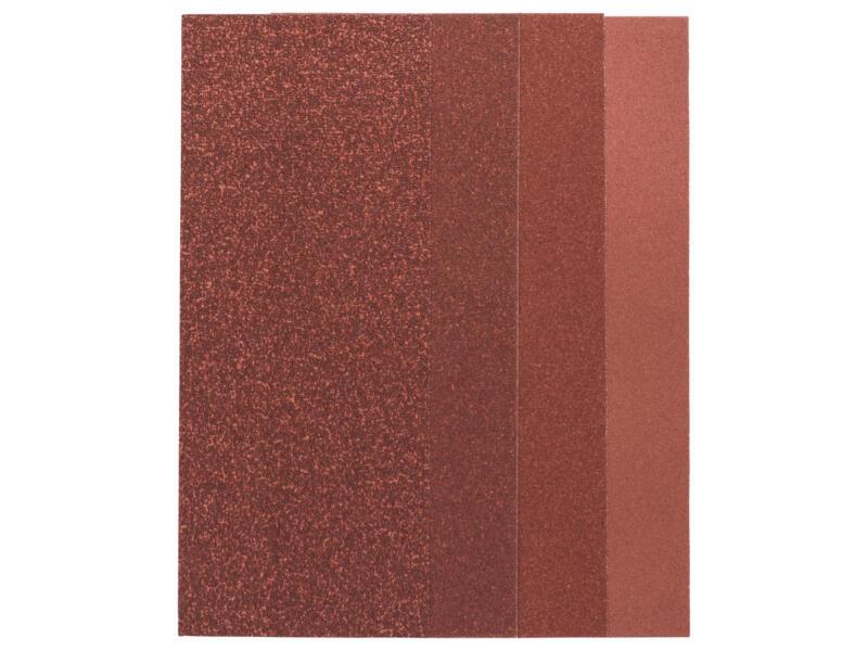 Bosch papier abrasif G60/G80/G120/G240 230x93 mm