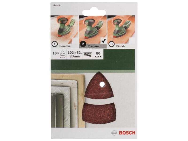 Bosch papier abrasif G80 102x93 mm 10 pièces