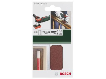 Bosch papier abrasif G80/G120/G180/G240 125x70 mm 10 pièces