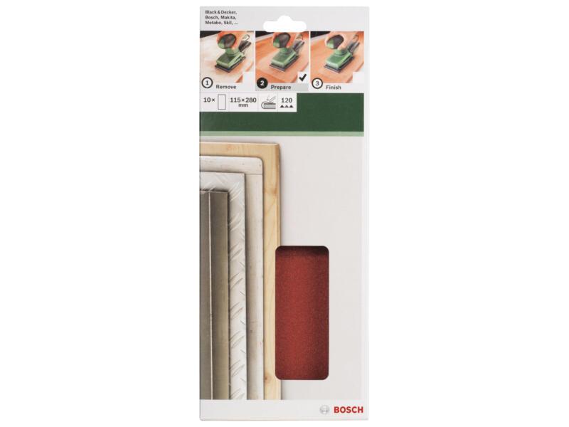 Bosch papier abrasif non perforé G120 280x115 mm 10 pièces