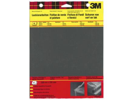 3M papier abrasif waterproof 4 pièces
