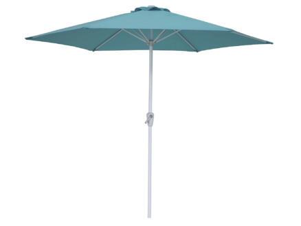 Garden Plus parasol 2,7m met hendel azuur