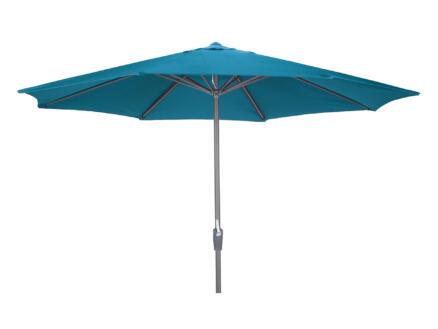 Garden Plus parasol 3,5m avec manivelle azur