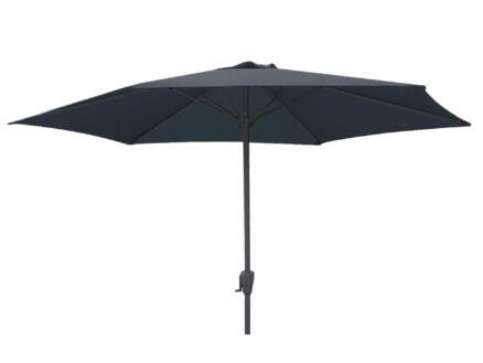 Garden Plus parasol 3m avec manivelle gris