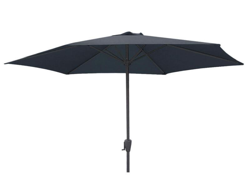 Garden Plus parasol 3m met hendel grijs