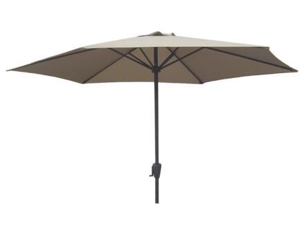 Garden Plus parasol 3m met hendel taupe