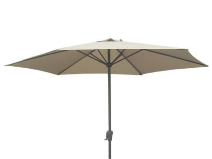 Garden Plus parasol 3m met hendel zand