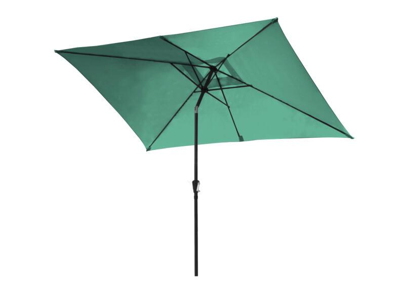 parasol 3x2 m met hendel smaragdgroen