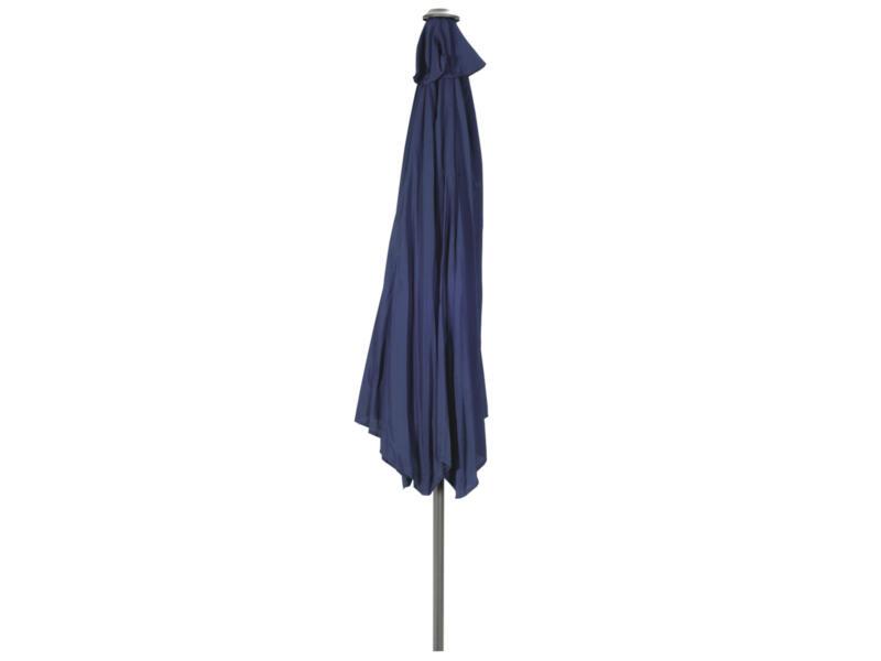 Garden Plus parasol à manivelle 3m bleu