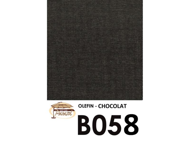 Easysun parasol déporté 3,2m olefin chocolat + pied