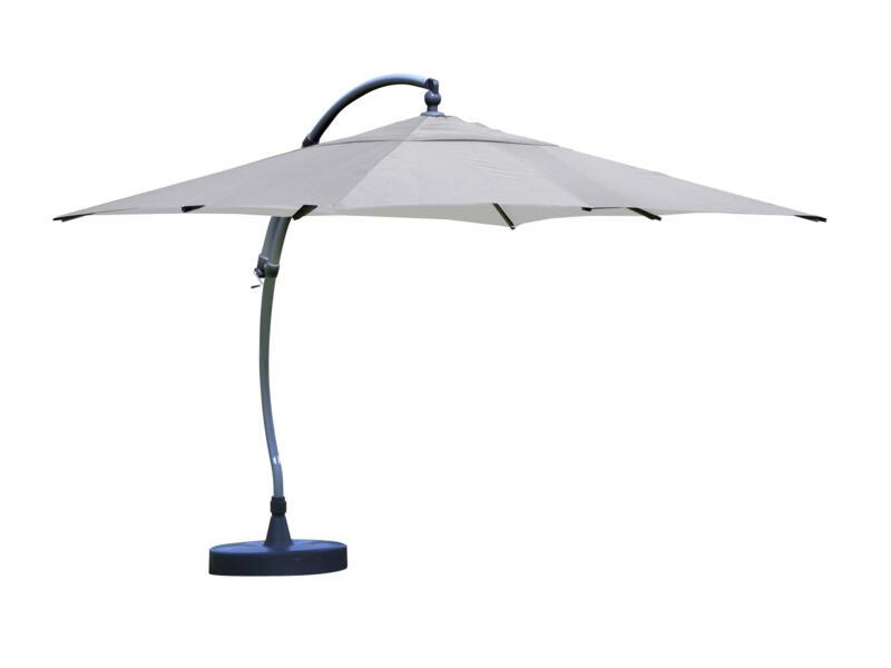 Easysun parasol déporté 3,2m olefin titane + pied