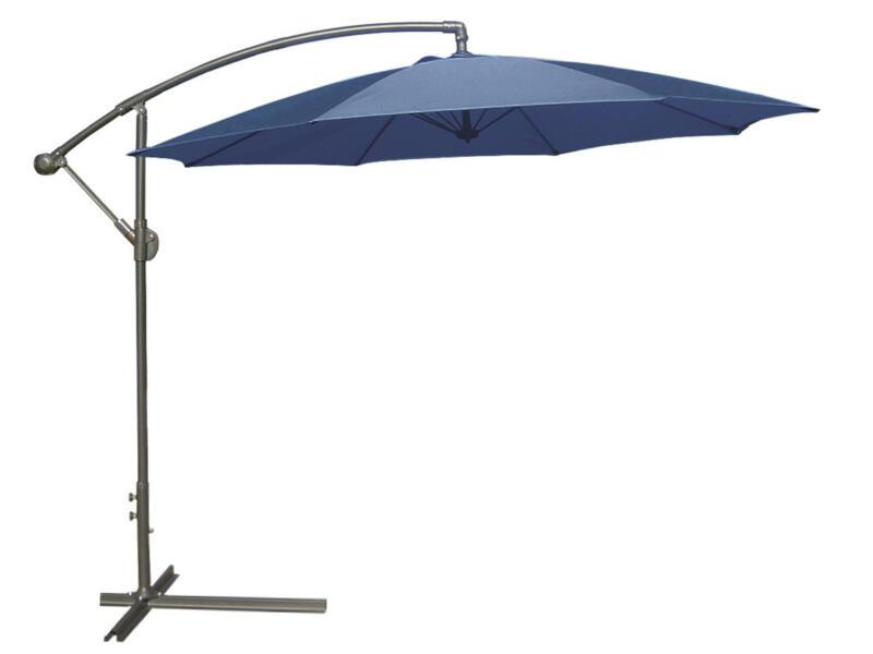 Garden Plus parasol déporté 3m azur + pied