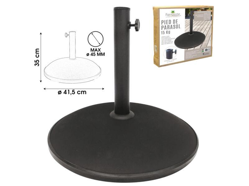 parasolvoet 15kg cement zwart