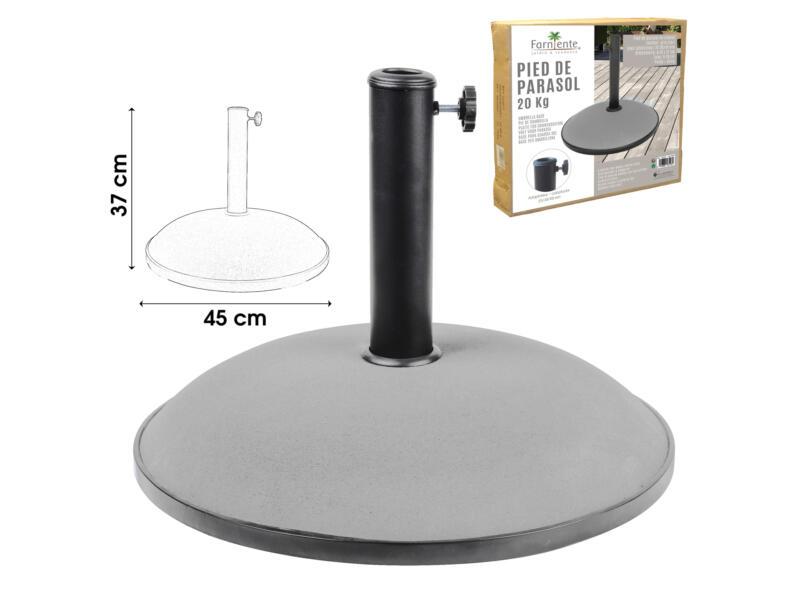 parasolvoet 20kg cement lichtgrijs