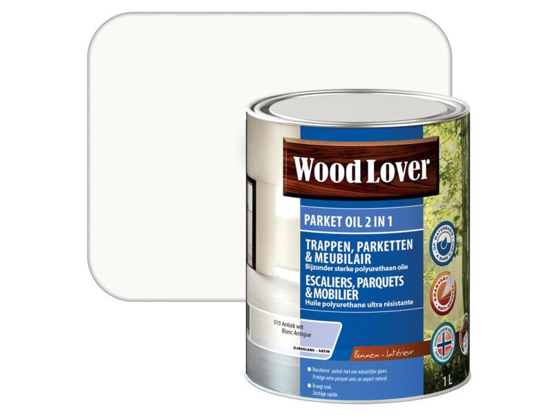 Wood Lover parket oil 2-en-1 1l blanc antique #010