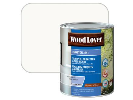Wood Lover parket oil 2-en-1 2,5l blanc antique #010