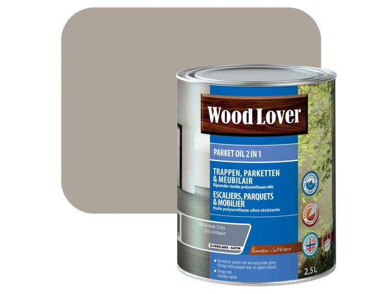 Wood Lover parketolie 2-in-1 2,5l antiek grijs #030