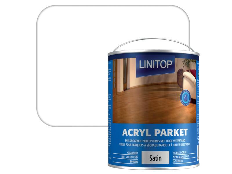 Linitop parketvernis acryl zijdeglans 2,5l kleurloos