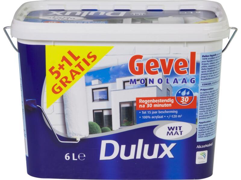 Dulux peinture façade monocouche mat 6l blanc