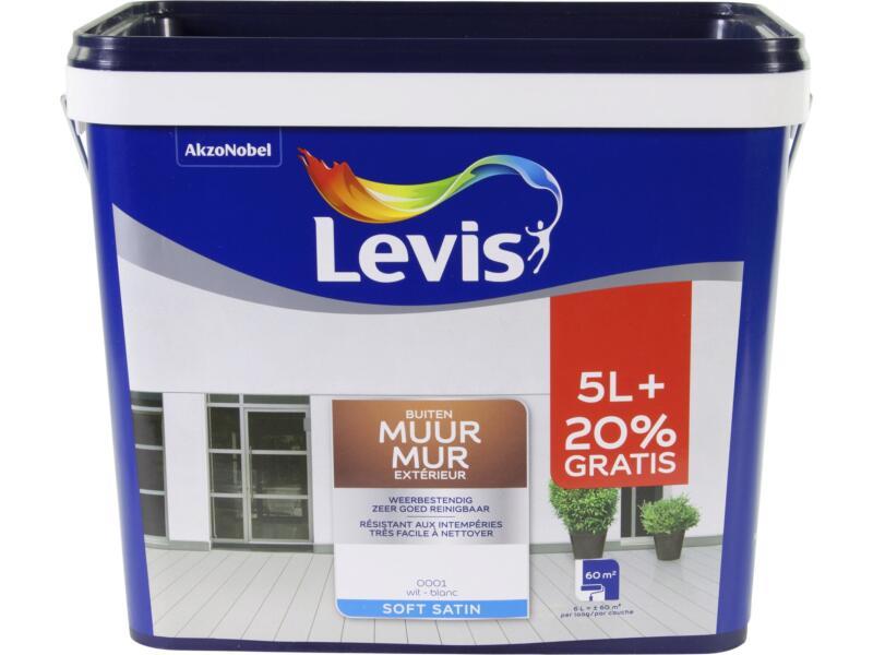 Levis peinture façade satin 5+1 l blanc
